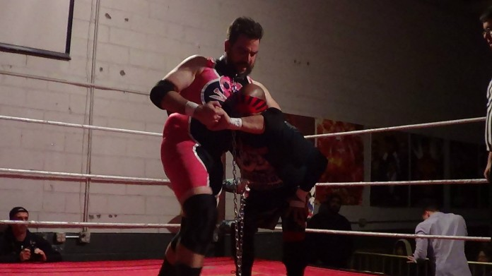 Side headlock! Some of my only offense in the match.
