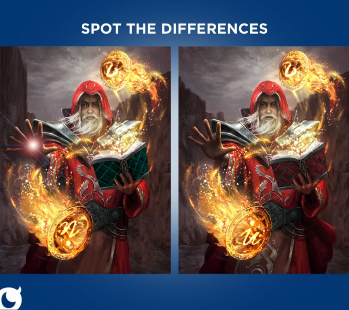 Mobage Spot the Differences Campaign